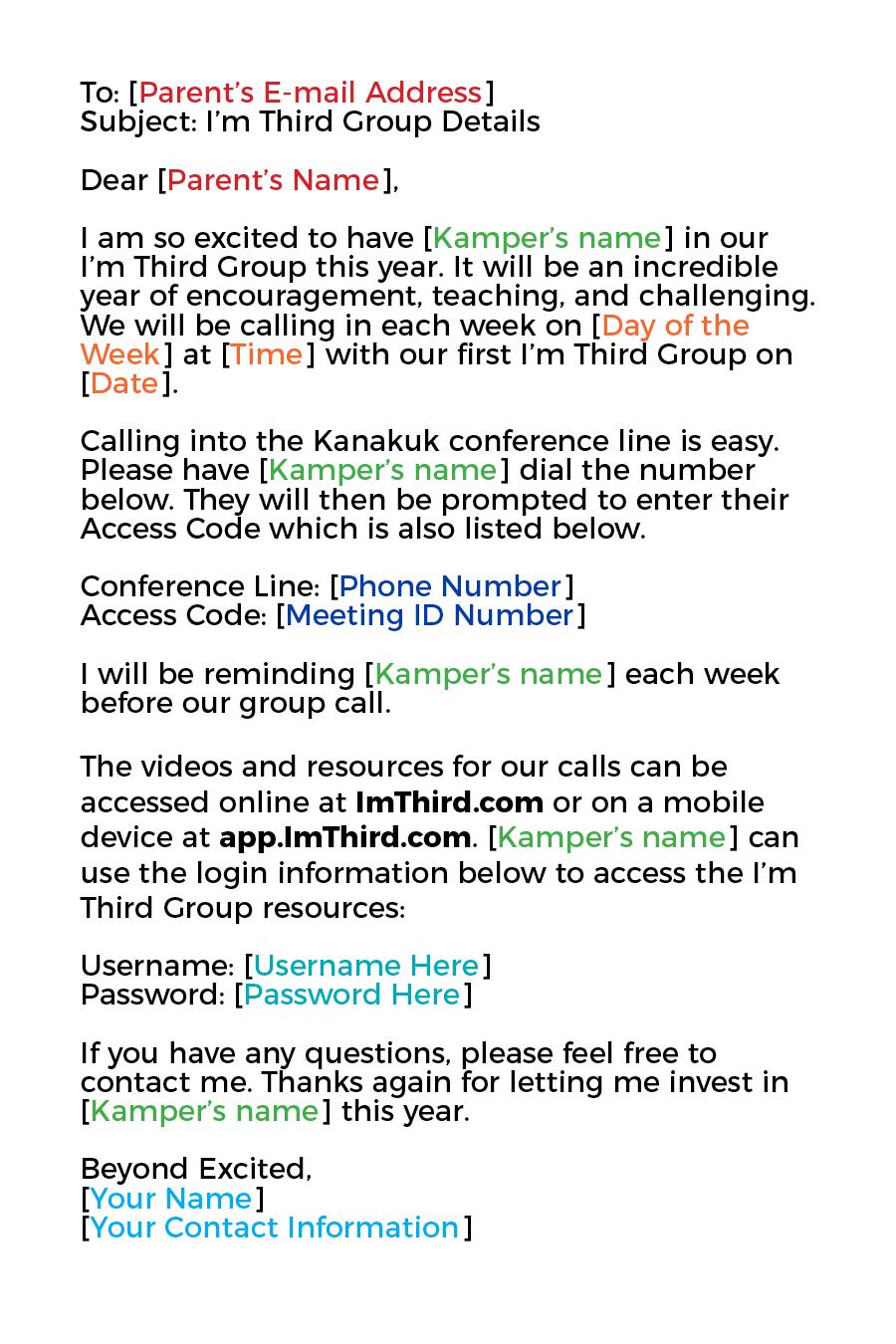 STARTING YOUR I'M THIRD GROUP – I'M THIRD